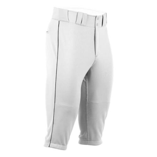 *NWT* Boombah Youth baseball pant X-SERIES PIPE KNICKER - White/Black - 28 or XL