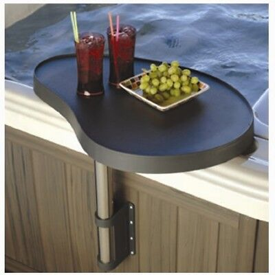 Superior Spas Hot Tub Mounted Shelf, Spa Caddy, Drinks Table Tray-Black-SPC01