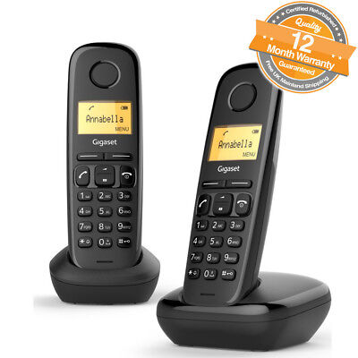 Gigaset A170 Twin Ditigal Cordless Telephones wth Phonebook in Black