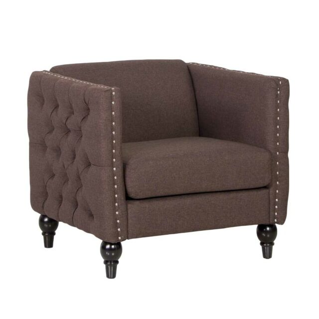 Remarkable Aaren Single Seater Chesterfield Style Sofa Chocolate Spiritservingveterans Wood Chair Design Ideas Spiritservingveteransorg