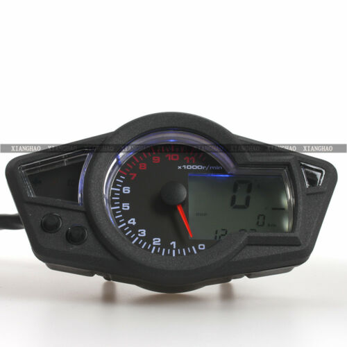 backlight lcd digital odometer tachometer speedometer gauge motorcycle kmh mph. Black Bedroom Furniture Sets. Home Design Ideas