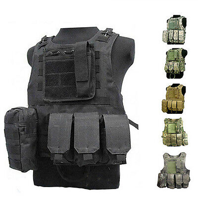Swat Assault - Tactical Military SWAT Airsoft Molle Combat Assault Plate Carrier Vest Gear