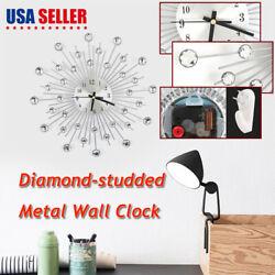 New Wall Clock Decorative Art Big Watch Modern Bead Design Quartz Decor Dia 30cm