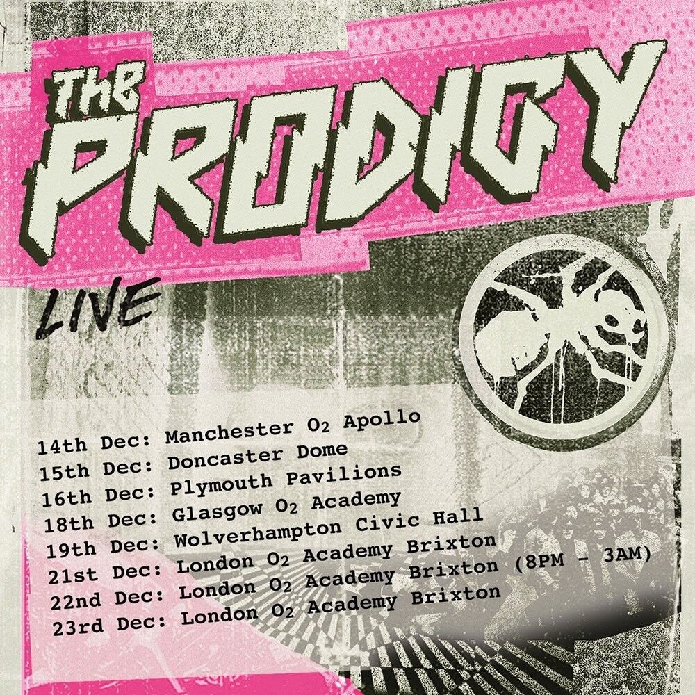 2x Tickets for The Prodigy in London 21/12
