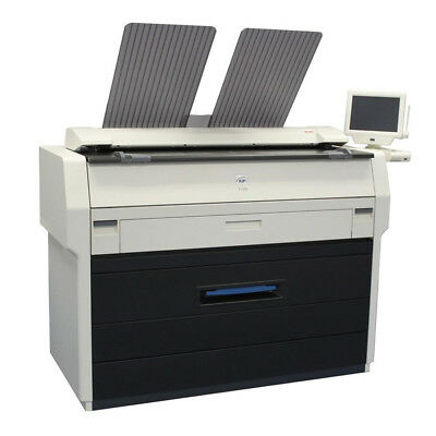 Kip 7100 36 Bw Monochrome Wide Format Printer Copier Scanner