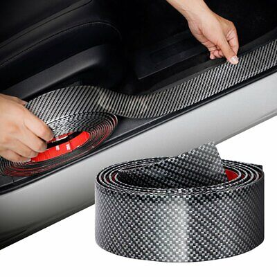 Parts Accessories Carbon Fiber Vinyl Car Door Sill Scuff Plate Sticker Protector