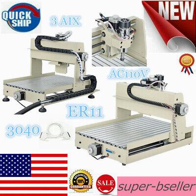 3 Axis 3040 Er11 Cnc Router Engraver Engraving Machine Milling Drilling Desktop