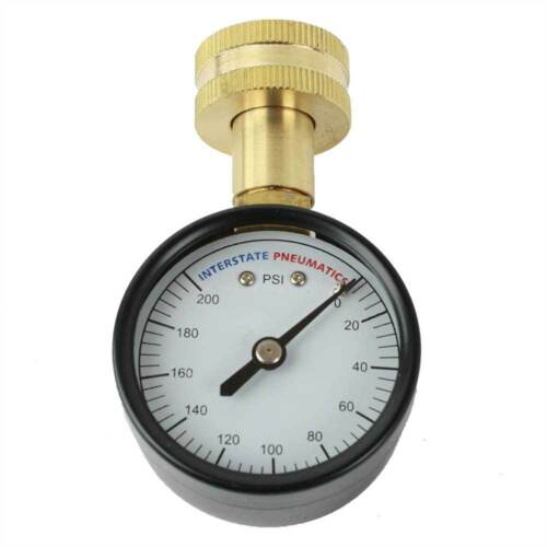 "2"" 200 PSI 3/4"" GHT Water Pressure Gauge - G2012-200W"
