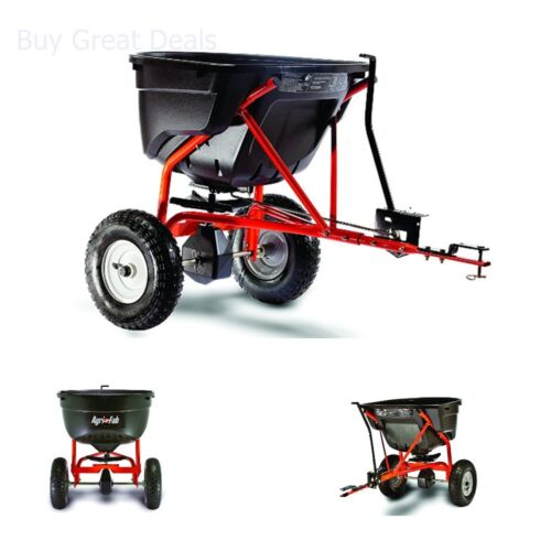 New Agri-Fab Spreader 130-Pound Max Tow Behind Broadcast Spreader, (Black)