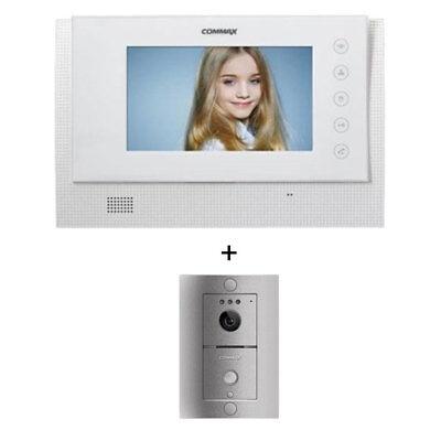 "Commax LCD 17"" WideColor Intercom CAV-70CG White Door Camera DRC4L HandsFree LED"