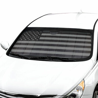 Used, Car Sun Shade Black Flag Front Window Windshield Sunshade Cover Auto Truck SUV for sale  Los Angeles