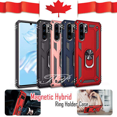 For Huawei P30 Lite P30 Pro Heavy Duty Rugged Rotating Magnetic Ring Cover Case