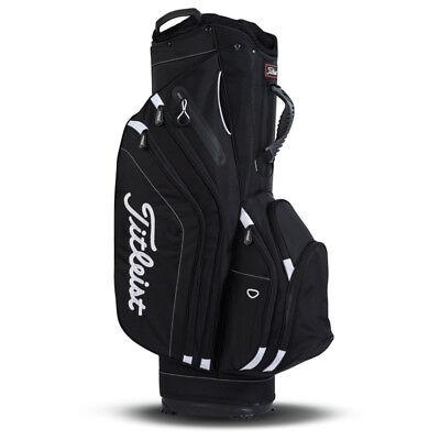 NEW Titleist Golf Lightweight Cart Bag 14-way Top Black 10+ Pockets
