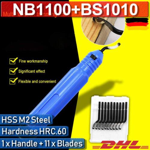 DE Entgrater Handentgrater Metall Rohr NB1100 Mit 10Pcs BS1010 Klingen Blätter