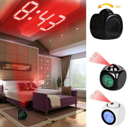 Digital Projection Alarm Clock With LCD Display Voice Talkin