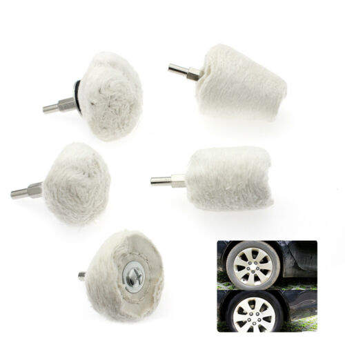 5pcs Car Polisher Buffing Pads Mop Wheel Drill Kit Aluminum Stainless Durable