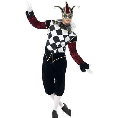 Smi - Herren Kostüm Gothic Harlekin Karneval Fasching Halloween