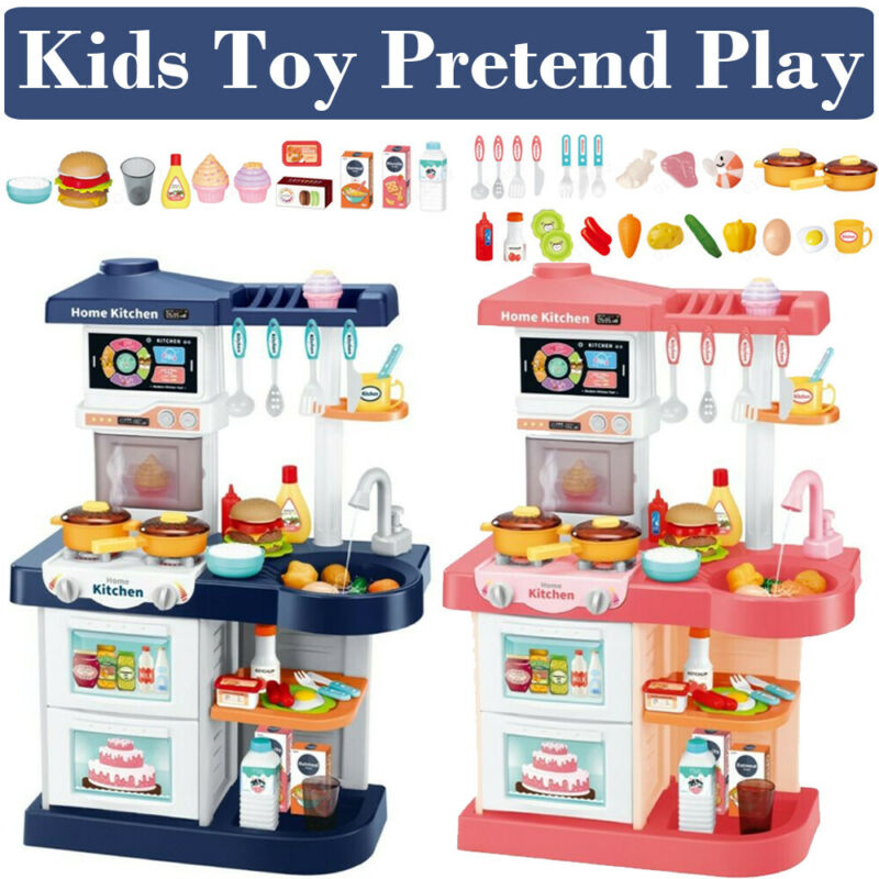 Kitchen Play Set Pretend Baker Kids Toy Cooking Playset Food Little Bakers Gift Ebay
