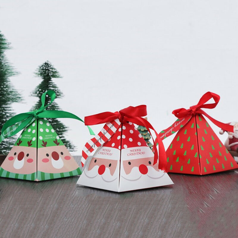 Christmas Gift Bags For Kids.Details About 10x Christmas Gift Bags Paper Ribbon Bag Candy Box Kids Xmas Party Favor Uk