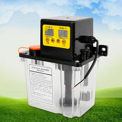 Automatic Electric Lubrication Pump Oiler Nc Pump Dual Digital Display Only 110v