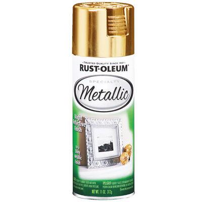 Rust-Oleum 1910830 Metallic Spray, Gold, 11-Ounce