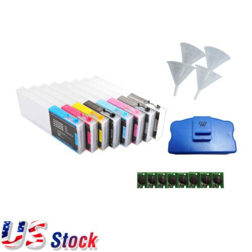 Combo Epson Stylus Pro 4800 Refill Ink Cartridges + Funnels + Chips + Resetter