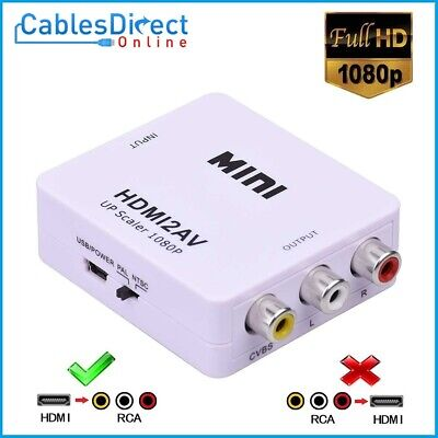 Mini Composite 1080P HDMI to RCA Upscaler CVBS AV Adapter Converter for HD TV