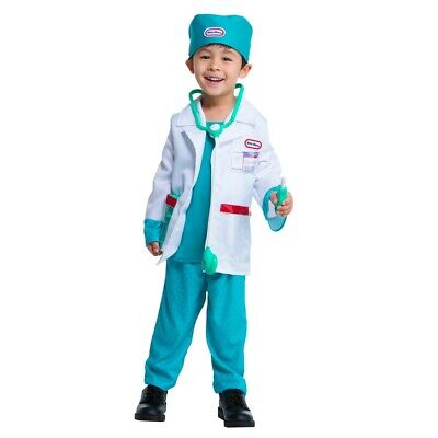 Little Tikes Toddler Doctor Halloween Dress Up Costume Set Medical 1-2 Toddler