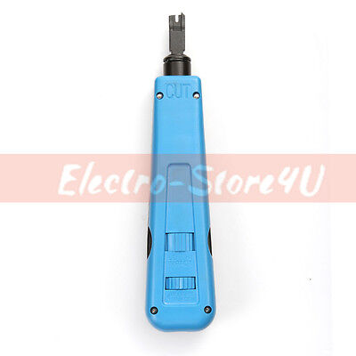 Impact Punch Down Tool 110/66 Blade Network Wire Punch Down Cable Cat5e Cat6 RJ