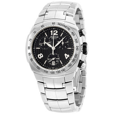 Alpina Avalanche Black Dial Stainless Steel Ladies Watch AL350LBBB2A6B