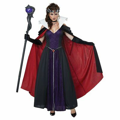 Evil Storybook Queen Fairy Tale Wicked Fancy Dress Up Halloween Adult Costume - Wicked Fairy Halloween Costumes