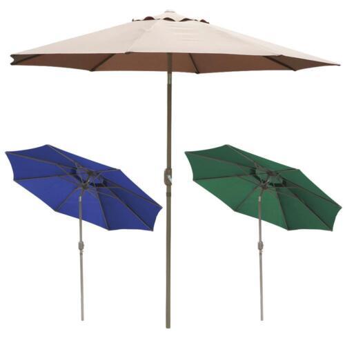 3m Aluminium Garden Patio Parasol Table Sun Shade Umbrella