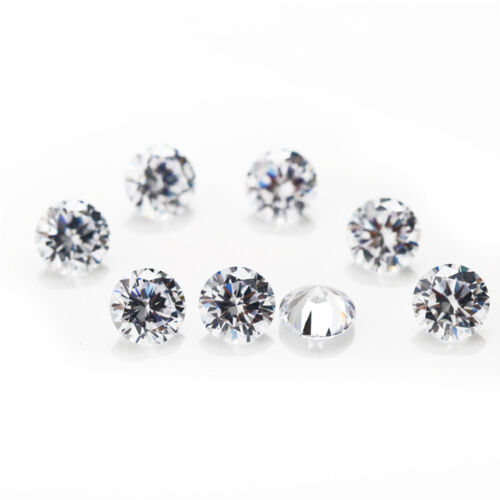 100//200Pcs Loose Zirconia Round Crystals Beads DIY Craft Art Jewelry Decor Gift