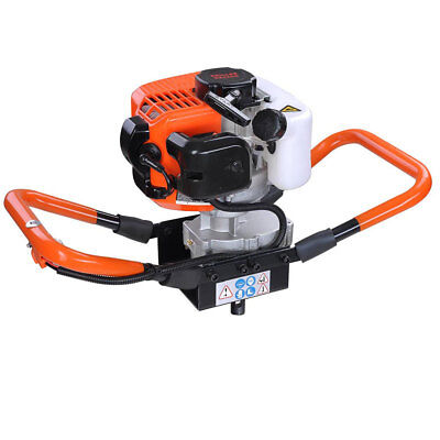 Epa Certified 52cc Gas Powered Earth Auger Head Post Hole 6500rpm Digger Machine