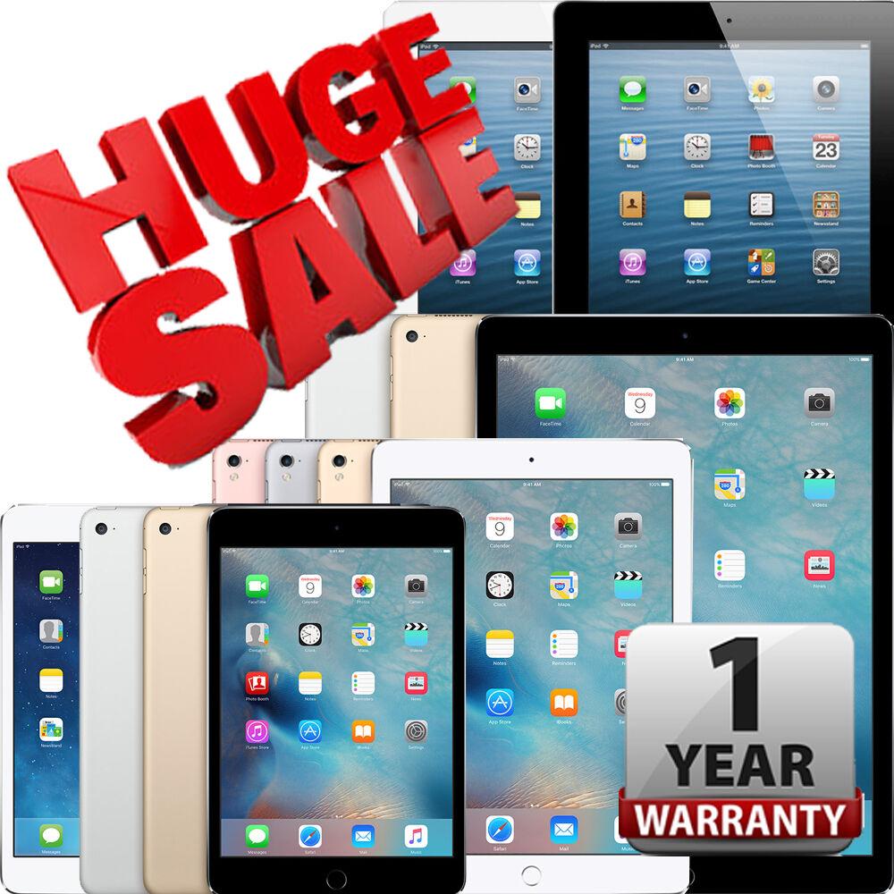 $99.95 - iPad   Air,mini,2,3,4,Pro   WiFi Tablet   16GB 32GB 64GB 128GB 256GB   Warranty