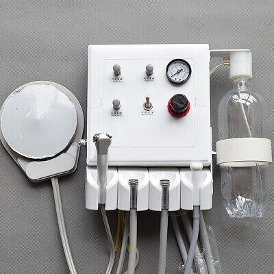 Portable Dental Turbine Unit 3 Way Straw Wall Hanging Type 4 Holes Weak Suction