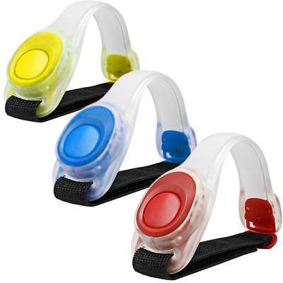 3x LED Light Armband Silicone Reflective Running Gear LED Bracelet Glow Dark