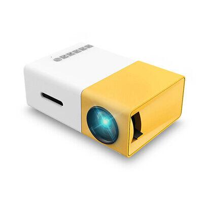 Portatile LCD LED Proiettore HD 1080P 400 Lumens USB AV Micro SD per iPhone L9Y7