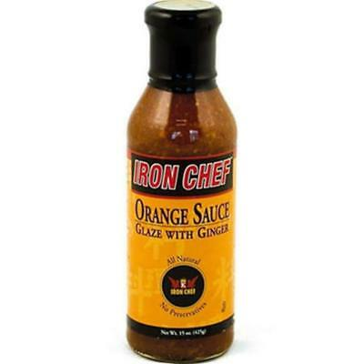 Iron Chef-Orange Ginger Sauce, Pack of 6 ( 15 oz bottles -