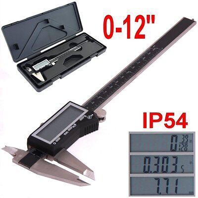 12 Digital Electronic Caliper Large Lcd X-precision Inch Metric Fraction 1128