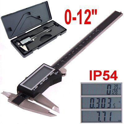 12 Digital Electronic Caliper Large Lcd X-precision Inch Metric Fraction 1128