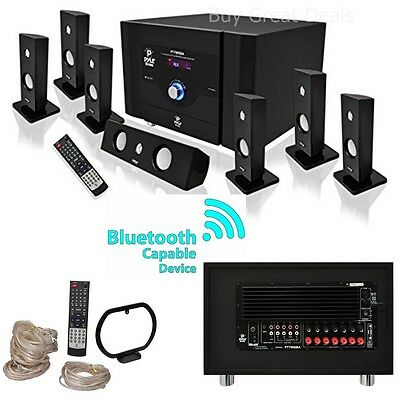 NEW PYLE BLUETOOTH 7.1 CH 500W HOME THEATER SYSTEM STEREO SPEAKER SURROUND SOUND