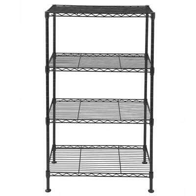 Open Design 4 Tier Wire Shelving Rack Metal Shelf Adjustable Garage Storage