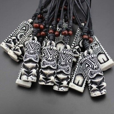 Cord Man Cool Tribal TIKI Adjustable Fashion Pendant Tiki Totem Necklace - Tiki Necklace