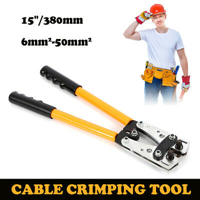 6-50mm Cable Crimper Anderson Plug Wire Crimping Tool Electric Tube Lug Hex Pvc