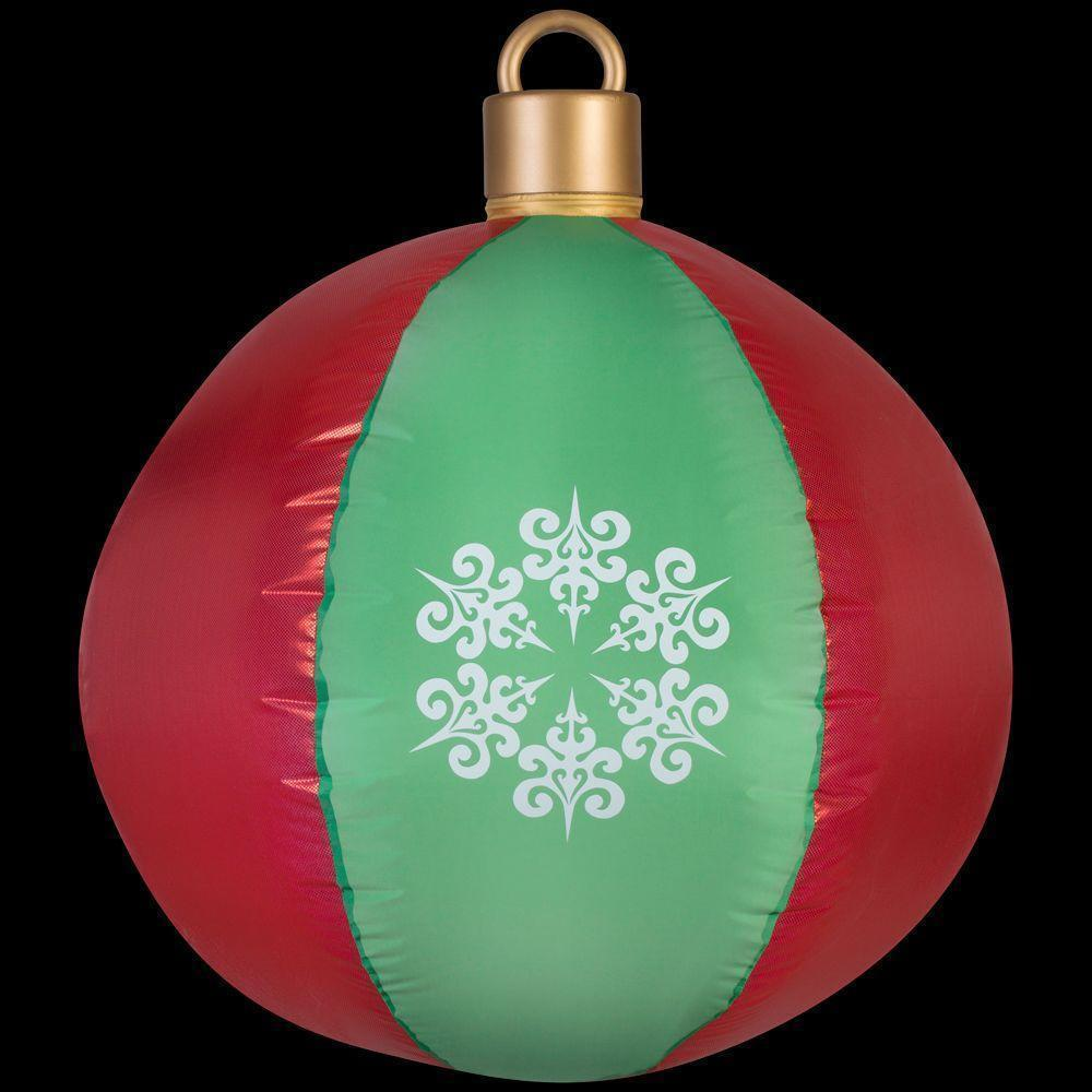 Red & Green Ornament Airblown Inflatable Christmas Outdoor Yard Decor