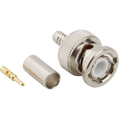 Qty 10 Amphenol Rf Connector 999-225b 554-022808 Coax Cable Bnc Male Plug