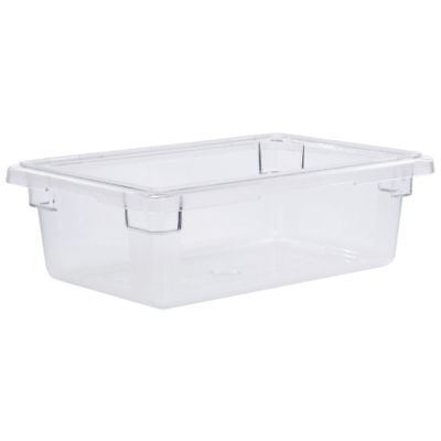 Cambro Food Storage Container 3 Gal Clear Plastic - 18l X 12w X 6d