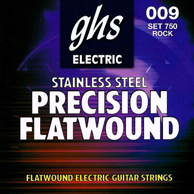 NEW GHS 750 Precision Flats Flatwound Ultra Light Guitar Strings (9-42) Flatwound Guitar Strings