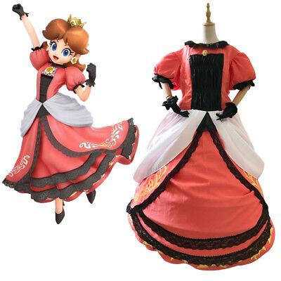 Daisy Mario Costume (Super Mario Princess Daisy Adult Costume Peach Bros Cosplay Dress Custom)